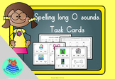 Long O task cards. 16 cards to practice oa, ow and o_e.