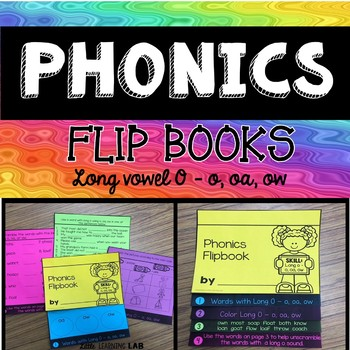 Journeys Helen Keller | Long Vowel Practice o, oa, ow | Phonics Flip Book