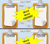 Long 'O' vs. Short 'O' Word Sort