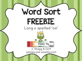 PHONICS FREEBIE: Word Sort- Long o spelled 'oa'