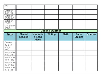 Long Range Lesson Plan Template 2017-2018
