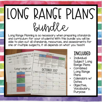 Long Range Planning Bundle