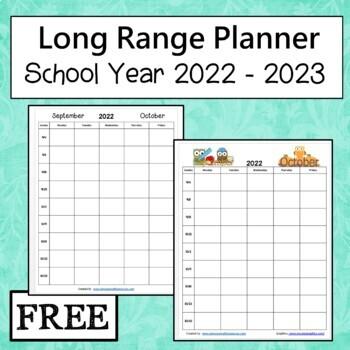 Planner 2018 - 2019 School Year