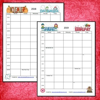 Planner 2020 to 2021 School Year