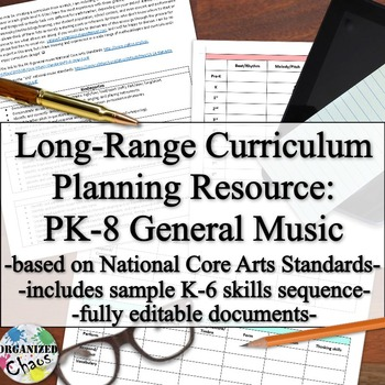 Long-Range Planning: PK-8 General Music Curriculum (with K