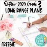 Long Range Plans: Grade 3 2020 Ontario: Tina's Teaching Treasures
