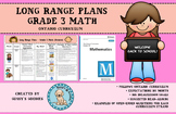 Long Range Plans - Grade 3 Math (Ontario)