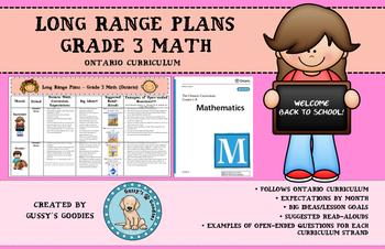 Long Range Plans - Grade 3 Math (Ontario)