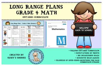 Long Range Plans - Grade 4 Math (Ontario)