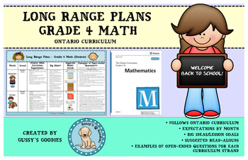 Long Range Plans - Grade 4 Math (Ontario)