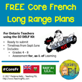 Long Range Plans (Ontario Core French) for DJ DELF Kit