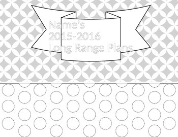 Long Range Plans Template (black & white)