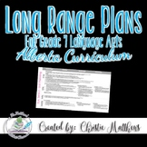 Long Range Plans for Grade 7 ELA - Alberta Curriculum