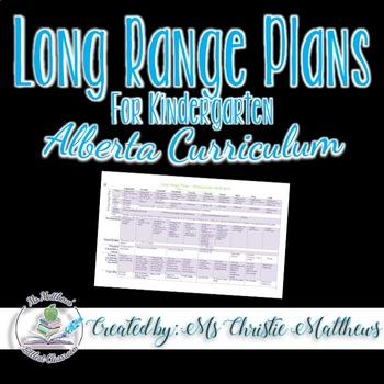 Long Range Plans for Kindergarten (Alberta)
