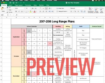 Long Range Year Plan Template