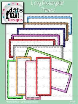 Long Rectangular Frames Clip Art Set
