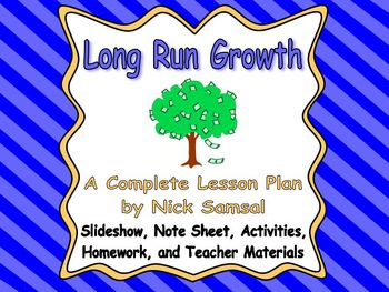Long Run Economic Growth - Lesson Plan and Activities