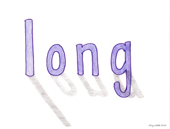 Long Shadows Cartoon--Printable Montessori Homonym Cards
