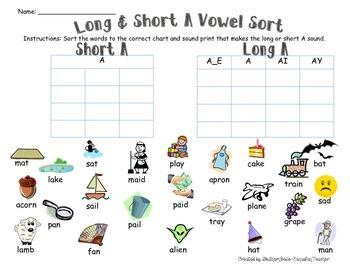 Long & Short A Vowel Sort (w/ SOUND-PRINTS)