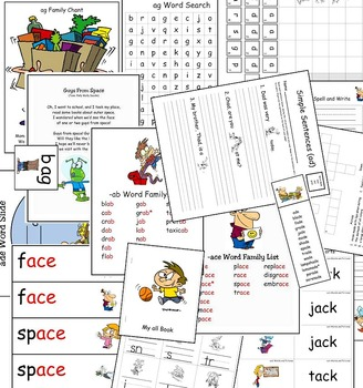 Long & Short A Word Work (Phonics - Word Families) Vol. 1