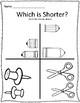 Long & Short Back to School Measurement Worksheets