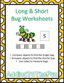 Long & Short Bug Measurement Worksheets