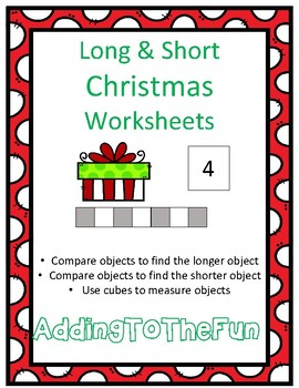 Long & Short Christmas Measurement Worksheets