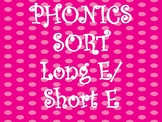 Long/Short E Sound Sort