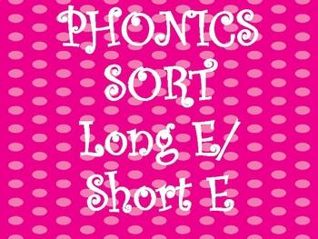 Long/Short E Sound Sort