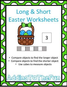 Long & Short Easter Measurement Worksheets