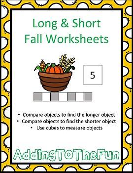 Long & Short Fall Measurement Worksheets