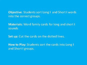 Long/Short I Sound Sort