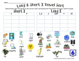 Long & Short I Vowel Sort (w/ SOUND-PRINTS)