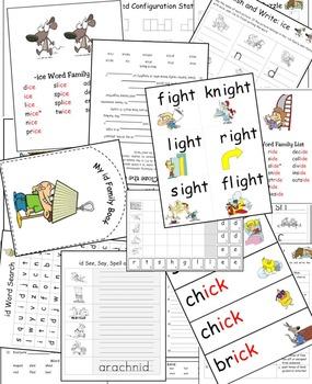 "Long & Short ""I"" Word Work (Phonics - Word Families) Vol. 1"