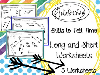 Long-Short PreK Telling Time Skills Worksheet Pack