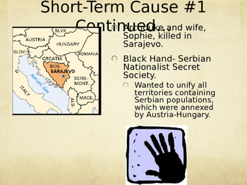 Long & Short-Term Causes of World War I Interactive PPT / Lecture/ Lesson plan