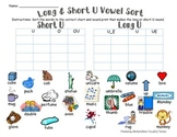 Long & Short U Vowel Sort (w/ SOUND-PRINTS)