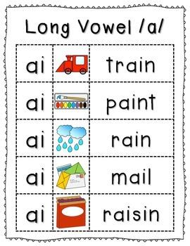 Long & Short Vowel Anchor Charts Bundle {Click File, Print}