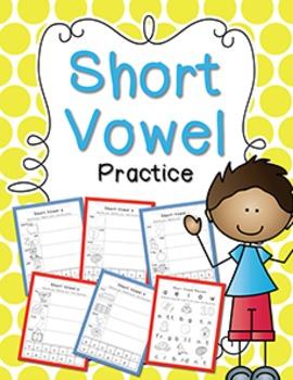 Long & Short Vowel Anchor Charts & Practice Mega Bundle {Click File, Print}