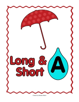 Long & Short Vowel File Folder Games