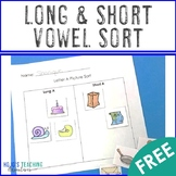 FREE Long and Short A Picture Sort