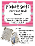 Long/Short Vowel Picture Sorts (Corresponds with WTW Sorts #1-6)