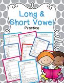Long & Short Vowel Practice Bundle {Click File, Print}