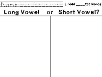 Long & Short Vowel Sort