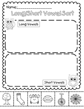 Long/Short Vowel Sort