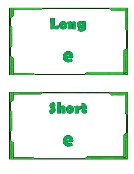 Long & Short Vowel Sort