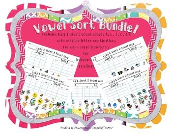 Long & Short Vowel Sort BUNDLE!! (w/ SOUND-PRINTS)
