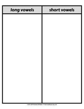 Long & Short Vowel Sort Game