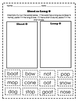 Long & Short Vowel Sorts