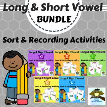 Long & Short Vowel Sounds Pack {sound sorts & recording activities}